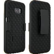 Paquete combinado de funda/soporte para Samsung Galaxy S7 - Negro