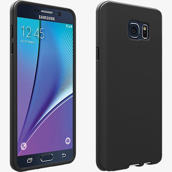 Cubierta de silicona para Samsung Galaxy Note 5 - Color Matte Black