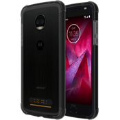Protector en dos tonos para moto z2 force edition - Negro/Color Dark Gray
