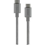 Cable trenzado USB-C a USB-C de carga y sincronización - Gris