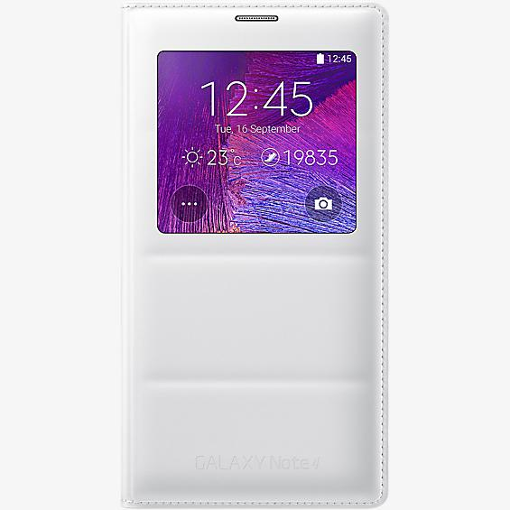 Cubierta plegable S-View de carga inalámbrica para Galaxy Note 4