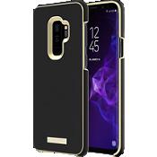 Estuche para el Galaxy S9+ - Placa con logo en color Saffiano Black/dorado