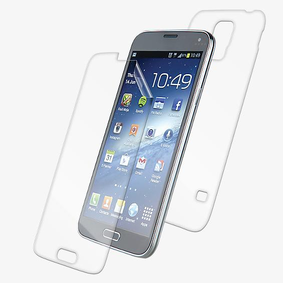 InvisiSHIELD DRY (cuerpo completo) - Frontal/trasero para el Galaxy S 5