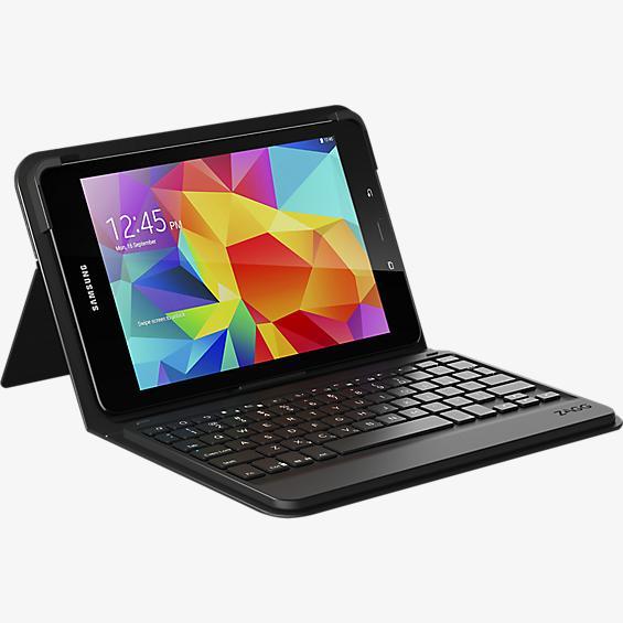 Estuche tipo billetera con teclado messenger para Galaxy Tab E 9.7 - Negro