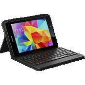 Estuche tipo folio con teclado messenger para Galaxy Tab E 9.7 - Negro