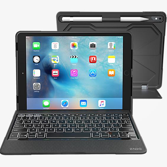 Estuche con teclado Rugged Book Pro para iPad Pro 9.7 - Negro
