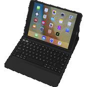Estuche tipo billetera resistente con teclado Messenger Book para iPad - Negro